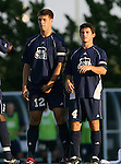 2 September 2007: Old Dominion's David Horst (12) and A.J. Kulp (4). The University of North Carolina Tar Heels tied the Old Dominion University Monarchs 1-1 at Fetzer Field in Chapel Hill, North Carolina in an NCAA Division I Men's Soccer game.