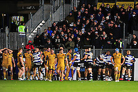 Players react to the full time whistle. Aviva Premiership match, between Bath Rugby and Bristol Rugby on November 18, 2016 at the Recreation Ground in Bath, England. Photo by: Patrick Khachfe / Onside Images