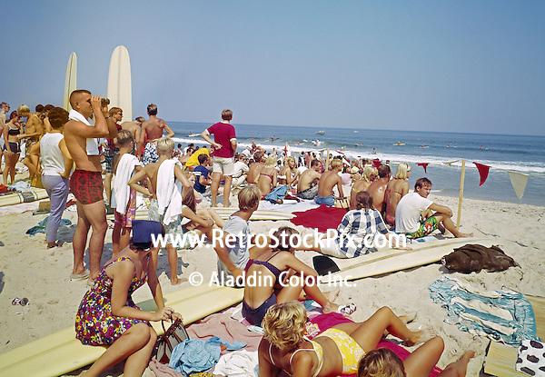 Surfing Contest in Virginia Beach, Virg. 1960's.