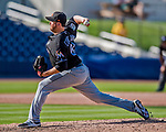 1 March 2017: Miami Marlins pitcher Scott Copeland on the mound during Spring Training action against the Houston Astros at the Ballpark of the Palm Beaches in West Palm Beach, Florida. The Marlins defeated the Astros 9-5 in Grapefruit League play. Mandatory Credit: Ed Wolfstein Photo *** RAW (NEF) Image File Available ***