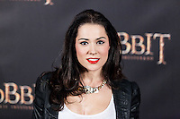 """Eva Maciel attends  """"The Hobbit: An Unexpected Journey"""" premiere at the Callao cinema- Madrid."""