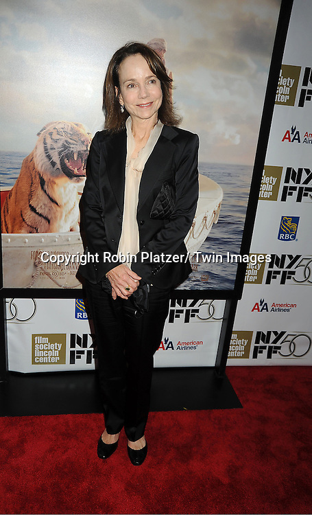 """actress Jessica Harper attends the 50th Annual New York Film Festival Opening Night Gala presentation of """"Life of Pi"""" starring Suraj Sharma and directored by Ang Lee on September 28, 2012 in New York City. The screening was at Alice Tully Hall at Lincoln Center."""