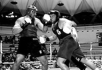 Roma  7 Maggio 1999.Incontro  di boxe dilettanti Campionato Regionale III serie.Ferazzoli (Boxe Frontaloni) vs Mezzetti (Fiumicino).