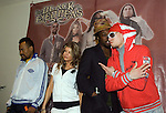 The Black Eyed Peas music band pose during a photo session in a Mexico City's hotel prior to their concert in Palacio de los Deportes, April 4, 2006. The Black Eyed Peas are also promoting their album Monkey Business... Photo by © Javier Rodriguez