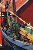 Europe/Norvège/Iles Lofoten/Hennigsvaer: le port détail Drakar