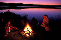 Camping at Clearwater Lake,.Chilcotin Country,.British Columbia, Canada