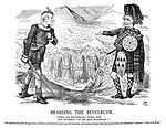 """Bearding the Buccleuch. """"These are Midlothian's voters new, and, Southron, I'm the bold Buccleuch!!"""" """"He denounced the system of faggot-votes, by which a practical fraud is played upon the constitution, and counties are wrested from there natural electors, the constituents.""""—Spectator's """"Notes of the week."""""""