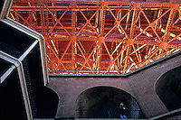California, San Francisco, Fort Point beneath Golden Gate Bridge