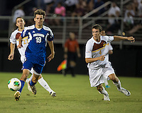 Winthrop University Eagles vs the Brevard College Tornados at Eagle's Field in Rock Hill, SC.  The Eagles beat the Tornados 6-0.  Caleb Hall (19), Sean Comer (4)