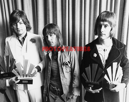 Emerson Lake & Palmer 1972 ELP Greg Lake, Keith Emerson and Carl Palmer.© Chris Walter.
