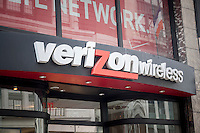 The Verizon Wireless store in New York on Tuesday, May 12, 2015. Verizon Communications announced that it will acquire AOL for approximately $4.4 billion pending regulator approval. (© Richard B. Levine)