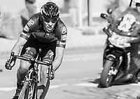 60 kilometers in the attack, Philippe Gilbert (BEL/Quick Step floors) solo's towards the finish in Oudenaarde; a truly epic effort<br /> <br /> 101th Ronde Van Vlaanderen 2017 (1.UWT)<br /> 1day race: Antwerp &rsaquo; Oudenaarde - BEL (260km)