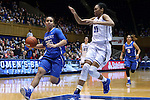 21 December 2014: Kentucky's Makayla Epps (25) and Duke's Azura Stevens (11). The Duke University Blue Devils hosted the University of Kentucky Wildcats at Cameron Indoor Stadium in Durham, North Carolina in a 2014-15 NCAA Division I Women's Basketball game. Duke won the game 89-68.