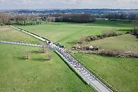 the peloton from above<br /> <br /> 72nd Dwars Door Vlaanderen (1.UWT)<br /> 1day race: Roeselare &rsaquo; Waregem BEL (203.4km)