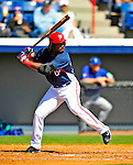 3 March 2009: Washington Nationals' center fielder Lastings Milledge in action against Italy during a Spring Training exhibition game at Space Coast Stadium in Viera, Florida. The Nationals defeated Italy 9-6. Mandatory Photo Credit: Ed Wolfstein Photo