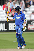 Mark Pettini of Essex acknowledges 50 runs - Essex Eagles vs Middlesex Crusaders - Friends Provident Trophy at Ford County Ground, Chelmsford - 20/05/07 - MANDATORY CREDIT:  Gavin Ellis / TGSPHOTO - IMAGES USED WILL BE INVOICED AT STANDARD RATES