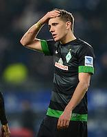 FUSSBALL   1. BUNDESLIGA   SAISON 2012/2013    19. SPIELTAG Hamburger SV - SV Werder Bremen                          27.01.2013 Nils Petersen (SV Werder Bremen) ist enttaeuscht