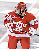 Louise Warren (BU - 28) - The Boston College Eagles defeated the Boston University Terriers 2-1 in the opening round of the Beanpot on Tuesday, February 8, 2011, at Conte Forum in Chestnut Hill, Massachusetts.