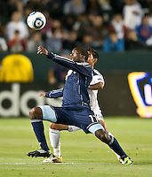 CARSON, CA – May 14, 2011: Sporting KC forward CJ Sapong (17) during the match between LA Galaxy and Sporting Kansas City at the Home Depot Center in Carson, California. Final score LA Galaxy 4, Sporting Kansas City 1.