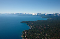 """Lake Tahoe Aerial 2"" - Photograph of Lake Tahoe alone the West shore. Shot from an amphibious seaplane with the door removed."