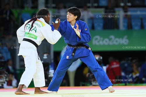 Miku Tashiro (JPN), <br /> AUGUST 9, 2016 - Judo : <br /> Women's -63kg Semi-final <br /> at Carioca Arena 2 <br /> during the Rio 2016 Olympic Games in Rio de Janeiro, Brazil. <br /> (Photo by YUTAKA/AFLO SPORT)