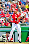 26 September 2010: Washington Nationals infielder Danny Espinosa in action against the Atlanta Braves at Nationals Park in Washington, DC. The Nationals defeated the pennant-seeking Braves 4-2 to take the rubber match of their 3-game series. Mandatory Credit: Ed Wolfstein Photo