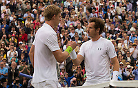 ANDY MURRAY (GBR), KEVIN ANDERSON (RSA)<br /> <br /> TENNIS - AEGON CHAMPIONSHIPS -  2015 -  QUEENS CLUB - LONDON -  ATP 500- 2015  - ENGLAND - UNITED KINGDOM<br /> <br /> &copy; AMN IMAGES