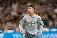 Melbourne, 24 July 2015 - Cristiano Ronaldo of Real Madrid reacts after kicking a goal in game three of the International Champions Cup match between Manchester City and Real Madrid at the Melbourne Cricket Ground, Australia. Real Madrid def City 4-1. (Photo Sydney Low / AsteriskImages.com)