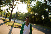 June 02, 2008. Durham, NC..Writer, poet and musician Shirlette Ammons near her home in downtown Durham.