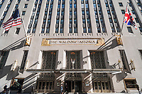 The famous Waldorf-Astoria Hotel on Park Avenue in New York on Sunday, October 18, 2015. After the hotels sale to the Chinese insurance company Anbang Insurance Group Co. Ltd. the federal government is no longer using the hotel because of surveillance fears.  (© Richard B. Levine)