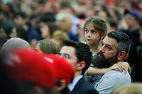 BETHPAGE, NY - APRIL 6 : Supporters of Republican presidential candidate Donald Trump listen to him during a rally on April 6, 2016 in Bethpage, New York. Front-running Republican candidate Trump will address supporters on the heels of a potentially damaging loss in the Wisconsin primary. Photo by VIEWpress