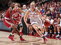 STANFORD, CA - March 23, 2015: Stanford Cardinal vs the Oklahoma Sooners in a second round game of the NCAA tournament Maples Pavilion.  Stanford defeated the Sooners 86-76.