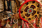 """""""Eagle Feathers"""" dressed in his Native American Pow Wow Regalia. Examples of his ethnic pride, heritage,culture and is a celebration of traditional Native folk art crafts."""