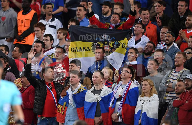 FUSSBALL EURO 2016 GRUPPE B IN LILLE Russland - Slowakei     15.06.2016 Russische Fans