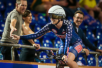 Picture by Alex Whitehead/SWpix.com - 04/03/2017 - Cycling - UCI Para-cycling Track World Championships - Velo Sports Center, Los Angeles, USA - USA's Samantha Bosco wins Gold in the Women's C5 3km Individual Pursuit final.