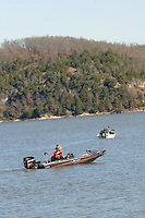 NWA Democrat-Gazette/FLIP PUTTHOFF<br /> Anglers head out to fish Dec. 5, 2015 in the Hickory Creek area of Beaver Lake.