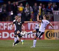 Kirsty Yallop, Lauren Holiday. The USWNT tied New Zealand, 1-1, at an international friendly at Crew Stadium in Columbus, OH.