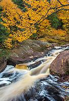 Ottawa National Forest, Michigan: The Black River in fall, Black River Recreation Area, Upper Penninsula
