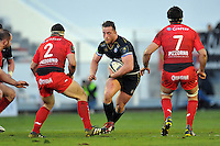 Max Lahiff of Bath Rugby in possession. European Rugby Champions Cup match, between RC Toulon and Bath Rugby on January 10, 2016 at the Stade Mayol in Toulon, France. Photo by: Patrick Khachfe / Onside Images