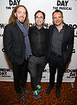 Tim Minchin, Danny Rubin and Matthew Warchus attend the Broadway Opening Night After Party for 'Groundhog Day' at Gotham Hall on April 17, 2017 in New York City.