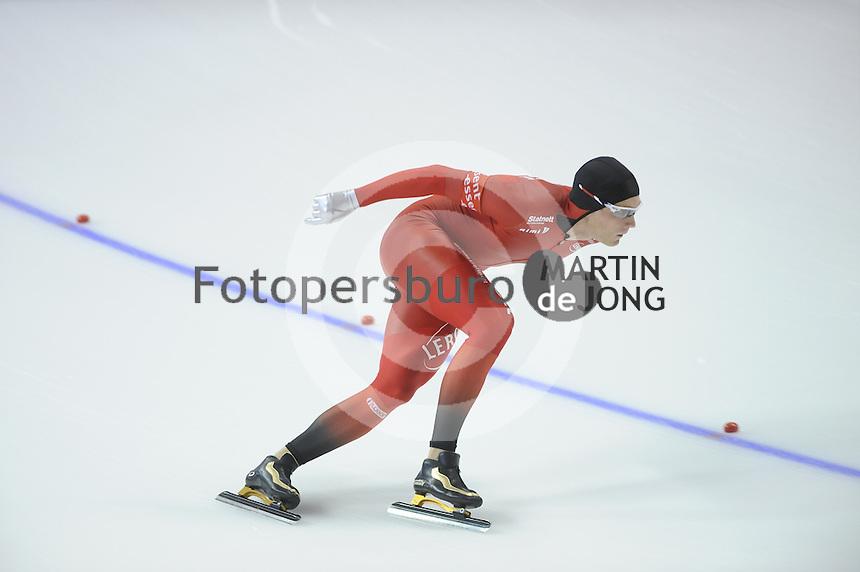 SCHAATSEN: CALGARY: Olympic Oval, 08-11-2013, Essent ISU World Cup, 1500m, Håvard Bøkko (NOR), ©foto Martin de Jong