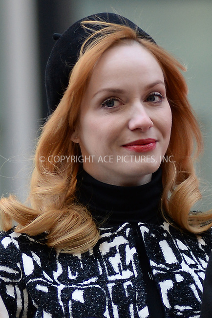 WWW.ACEPIXS.COM<br /> March 23, 2015 New York City<br /> <br /> Christina Hendricks attending the 'Mad Men' art installation Unveiling at Time &amp; Life Building on March 23, 2015 in New York City. <br /> <br /> Please byline: Kristin Callahan/AcePictures<br /> <br /> ACEPIXS.COM<br /> <br /> Tel: (646) 769 0430<br /> e-mail: info@acepixs.com<br /> web: http://www.acepixs.com