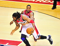 Wizards' Nene goes to the basket. Washington Wizards defeated the Miami Heat 105-101 at the Verizon Center in Washington, D.C. on Tuesday, December 4, 2012.   Alan P. Santos/DC Sports Box