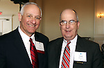 PROSPECT CT. 02 February 2017-020317SV10-From left, Ron Pugilese of Naugatuck, Naugatuck Economic Development Corp. and Joseph Brennan, president and CEO of Connecticut Business &amp; Industry Association attend The Waterbury Regional Chamber's Small Business Council&rsquo;s 20th annual Harold Webster Smith Awards in Prospect Friday.<br /> Steven Valenti Republican-American
