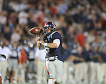Ole Miss quarterback Jeremiah Masoli (8) passes at Vaught-Hemingway Stadium in Oxford, Miss. on Saturday, September 25, 2010. Ole Miss won 55-38.