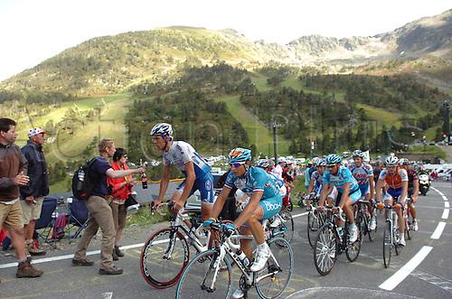 2009, Tour de France, tappa 07 Barcelone - Andorra Arcalis, Katusha, BBOX Boygues Telecom, Vandenbergh Stijn, Fedrigo Pierrick, Andorra Arcalis July 10th 2009.  Stage 7 (Photo: Stefano Sirotti/ActionPlus)