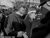 A young Richard Branson at the anti-Vietnam war demonstration march from Trafalgar Sq to Grosvenor Sq Sunday 17th March 1968.  At the time, I think he was editor of a student magazine.  I was told the headband was a Vietnamese sign of mourning for dead children.