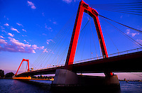 Willemsbrug Bridge, Rotterdam, the Netherlands