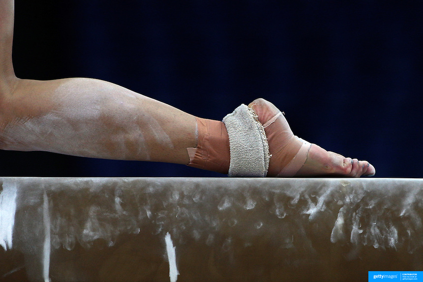 A Study Of Gymnasts Feet On The Balance Beam