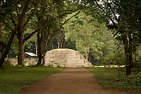 Mayan road or sacbe leading to the  ruins of Copan, Honduras. Copan is a UNESCO World Heritage Site....